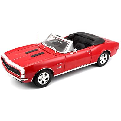 Maisto 1:18 Scale 1967 Chevy Camaro SS 396 Convertible Diecast Vehicle (Colors May Vary): Toys & Games