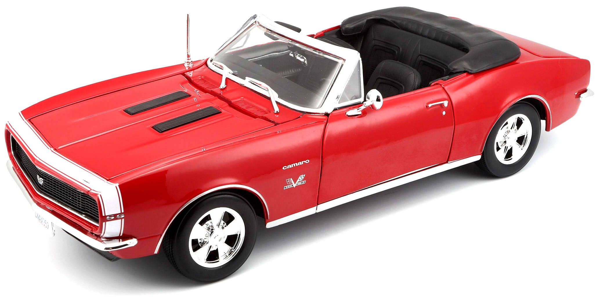 Maisto 1:18 Scale 1967 Chevy Camaro SS 396 Convertible Diecast Vehicle (Colors May Vary)