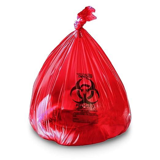 Amazon.com: 40 – 45 galones 40 x 46 rojo bolsas de ...