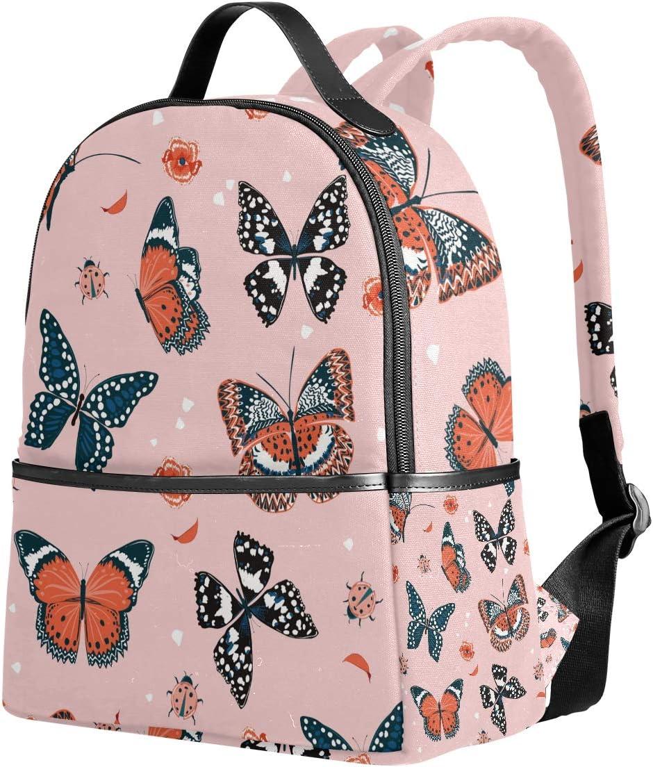 Children School Backpack Butterfly On Human Seashell Skull Preschool Kindergarten Bags Rucksack Casual Daypack for Kids Girls Boys Pink