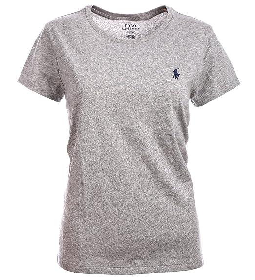 Ralph Lauren T Shirt Femme Top Polo Coton Poney (XL, Blanc