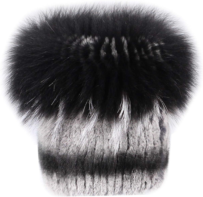 Mujer CHINCHILLA sombrero sombrero de piel oversizemuetze Gorro de ...
