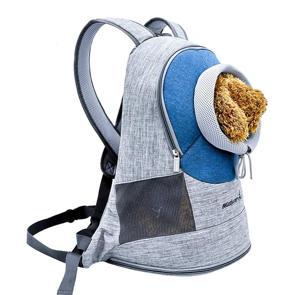 L-bluee Pet Chest Shoulder Bag Outcrop Pet Out Portable Backpack (color   L-bluee)