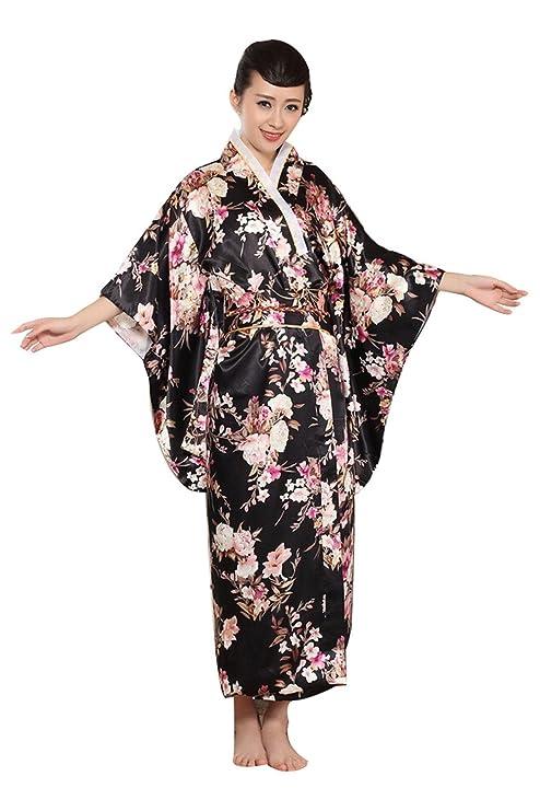 Vintage Retro lujoso traje traje de Cosplay kimono yukata japonés haori - vestido Negro: Amazon.es: Ropa y accesorios
