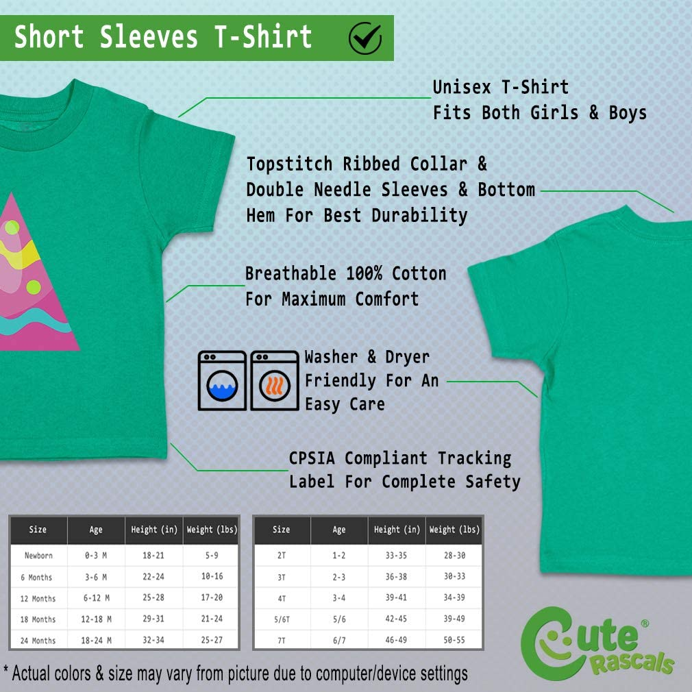 Custom Baby /& Toddler T-Shirt Colorful Triangle Pink Cotton Boy Girl Clothes