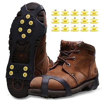 Racos de Hielo Tracción Antideslizante Más de Zapatos/para 15 Tacos Nieve Hielo Grips Crampones Tacos Picos: Amazon.es: Deportes y aire libre
