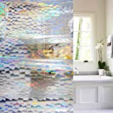 Wimaha 55W x 72L IT IS NOT A STANDARD SIZE SHOWER CURTAIN 55 inches Width Stall Shower Curtain Mildew Resistant Shower Curtain Liner Colorful