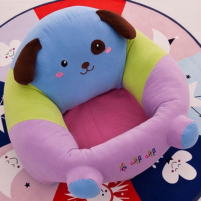 MagiDeal Silla de Apoyo para Bebés Asiento de Sentarse Sillón Almohada Cojín Sofá Juguete - Azul: Amazon.es: Bebé