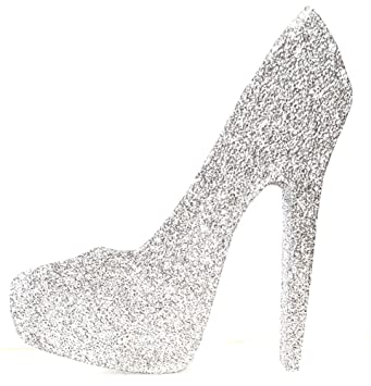 29f1c2854617 Amazon.com  High Heel Stiletto Shoe (Silver Glitter