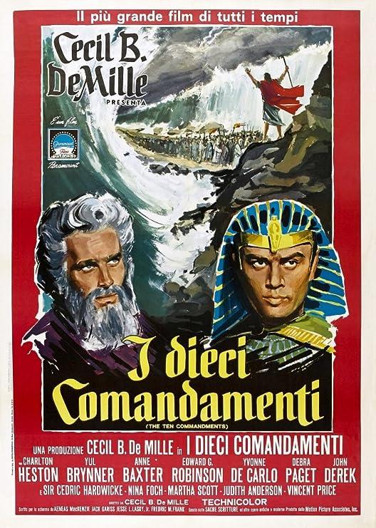 "The Ten Commandments 14 x 11/"" Photo Print Yul Brynner"