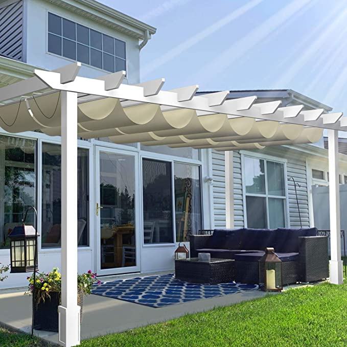 TANG Outdoor Retractable Pergola - Best for Water Resistance