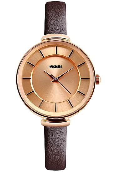 Pielschöne Diseño Clásico Pulsera De Reloj Rose Mujer Oro Alemán xBoCdre