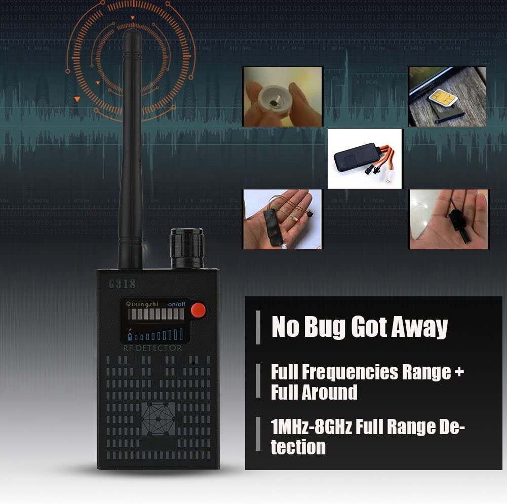 fosa Anti Spy Camera Detector T-8000 RF Signal Bug Detector GPS Scan Detector Yellow+Black Mini Camera Lens Tracker Ultra-high Sensitivity Signal Device Finder