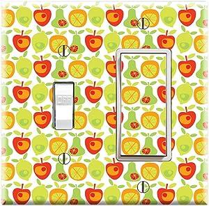 Graphics Wallplates - Lemon Apple Pear Orange Fruit - Toggle Rocker/GFCI Combo Wall Plate Cover