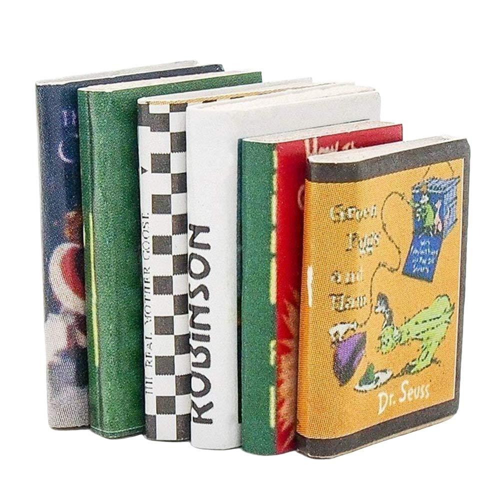 Odoria 1:12 Miniature 6PCS Books Colorful Dollhouse Decoration Accessories