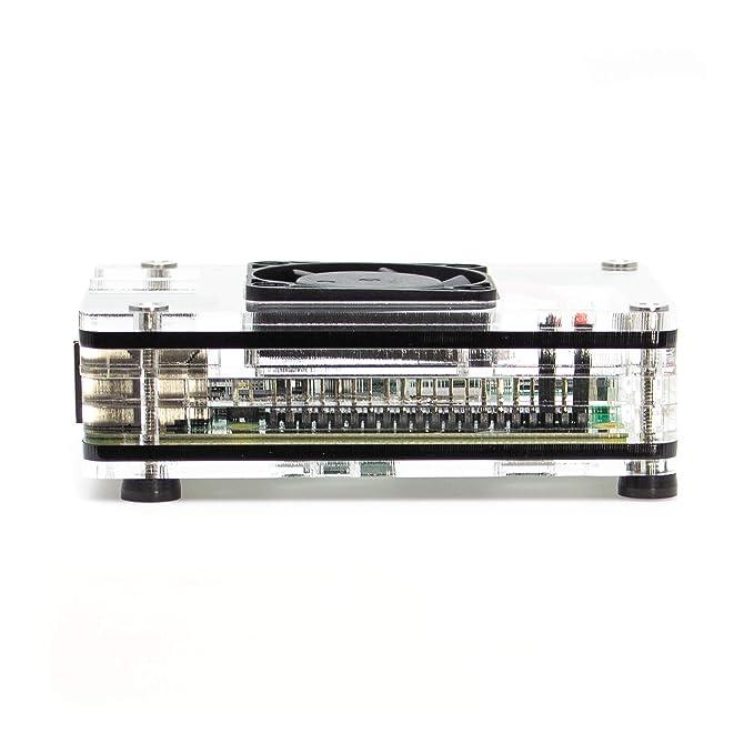 C4Labs - Zebra 4 Interior Fan Case for Raspberry Pi 4 B