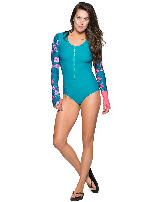 Sun Protection Swimwear Tuga Womens Plus Size One-Piece Swimsuits UPF 50