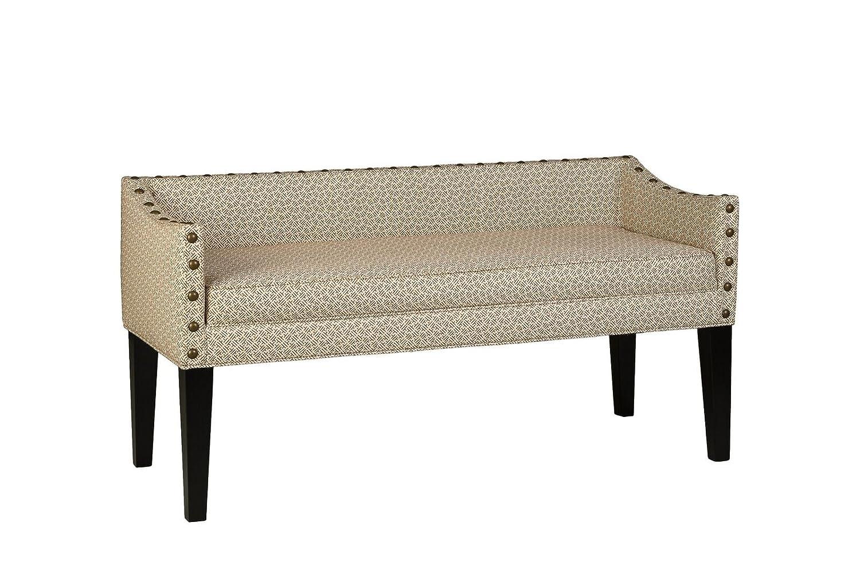 Leffler Home 13000-02-20-01 Whitney Transitional Long Upholstered Bench Coral