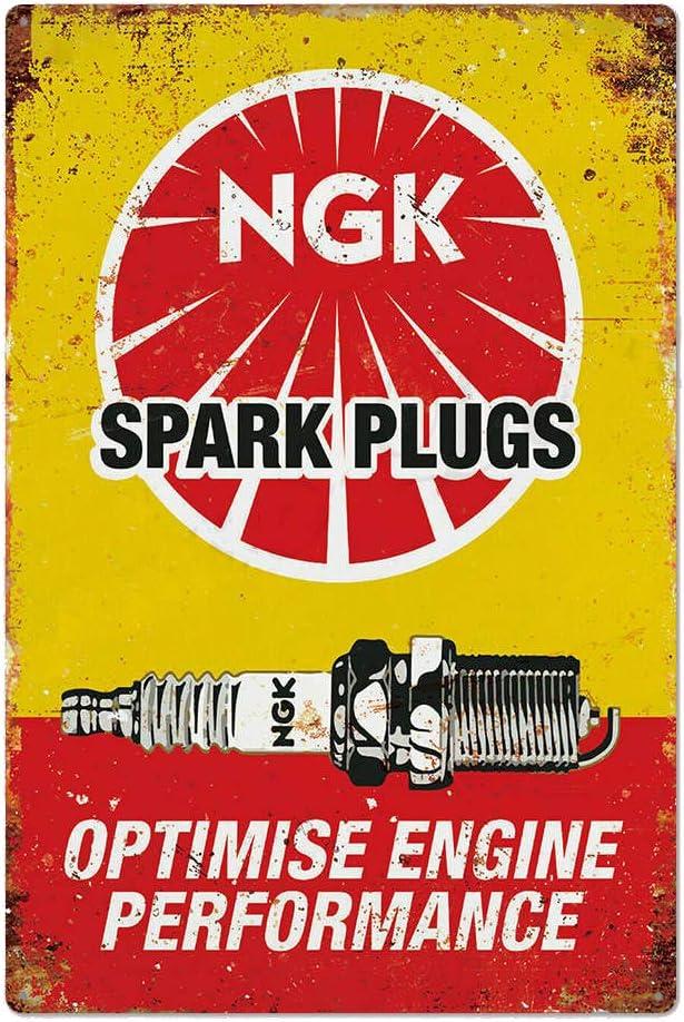 Tin Sign Retro Propeller engine