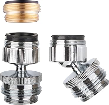 Faucet Adapter Kit Swivel Aerator Adapter To Connect Garden Hose Multi Thread Garden Hose Adapter For Male To Male And Female To Male Chrome Finished Amazon Com