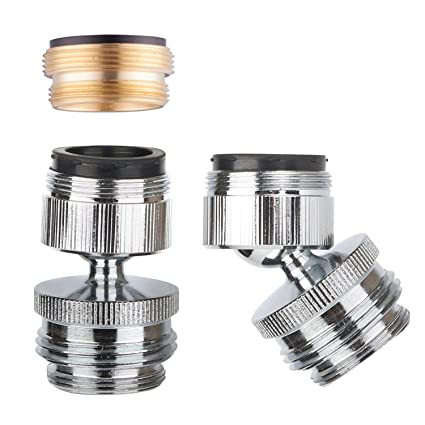 Faucet Adapter Kit Swivel Aerator Adapter To Connect Garden Hose Multi Thread Garden Hose Adapter For Male To Male And Female To Male Chrome