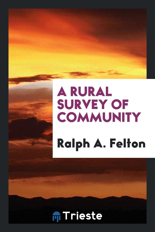 A rural survey of community pdf epub