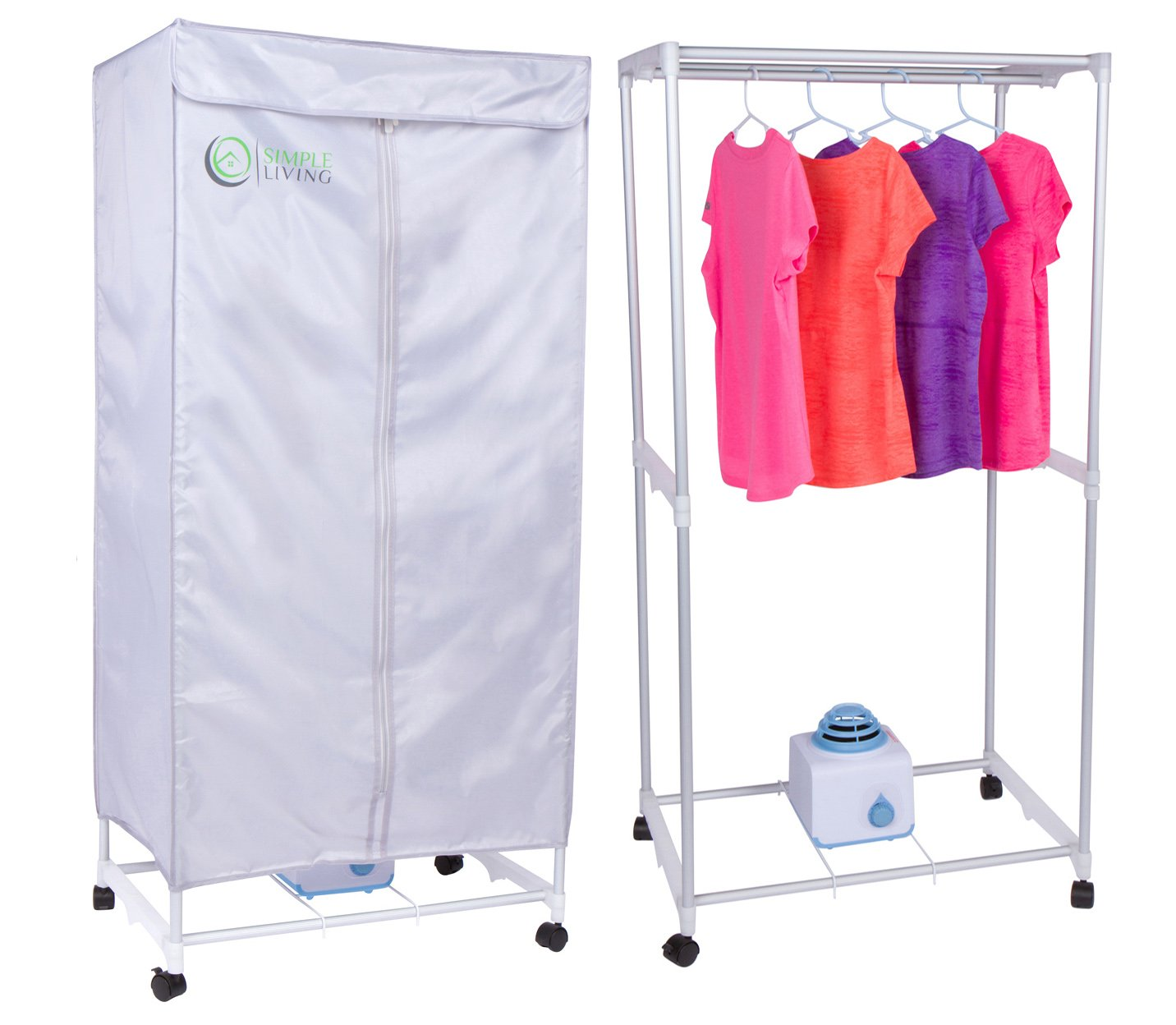 Simple Living Electric Portable Clothes Drying Rack   Compact Wardrobe Dryer  Uses Only 1000 Watts. Dries Clothes Within 30 Minutes.