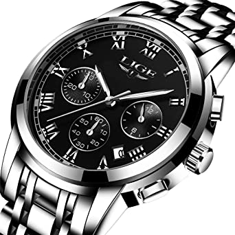 0d0d944e077 Buy Watch Men Fashion Sport Quartz Clock Mens Watches Top Brand Luxury Full  Steel Business Waterproof Watch Online at Low Prices in India - Amazon.in