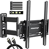 "MOUNTUP Full Motion TV Wall Mount Bracket for 26-55 Inch TVs with 19.6"" Extension, TV Mount with Tilt, Swivel and Rotation up"