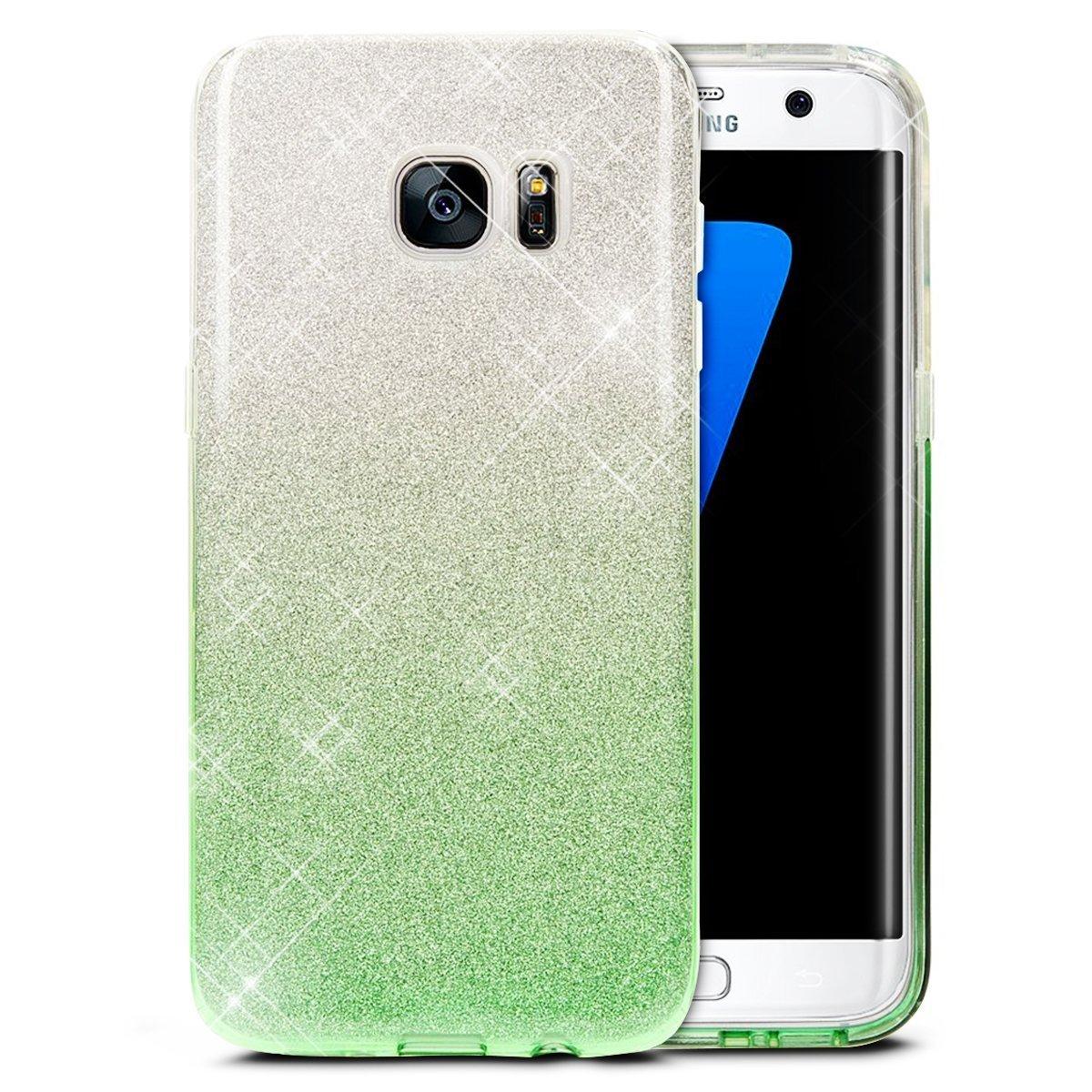 JAWSEU Coque Etui Samsung Galaxy S6, Placage Miroir Coque Folio en Cuir É tui de Protection Luxe Mode Effet Miroir Motif Coque Ultra Mince Leather PU Portefeuille Flip per Samsung Galaxy S6 JAWSEU0057028