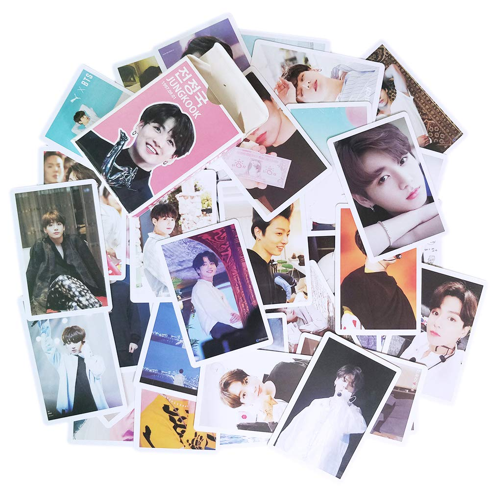 Kpop JUNGKOOK Solo Lomo Card 54 pcs Bangtan Boys Jeon JK Photocards with Postcards Box