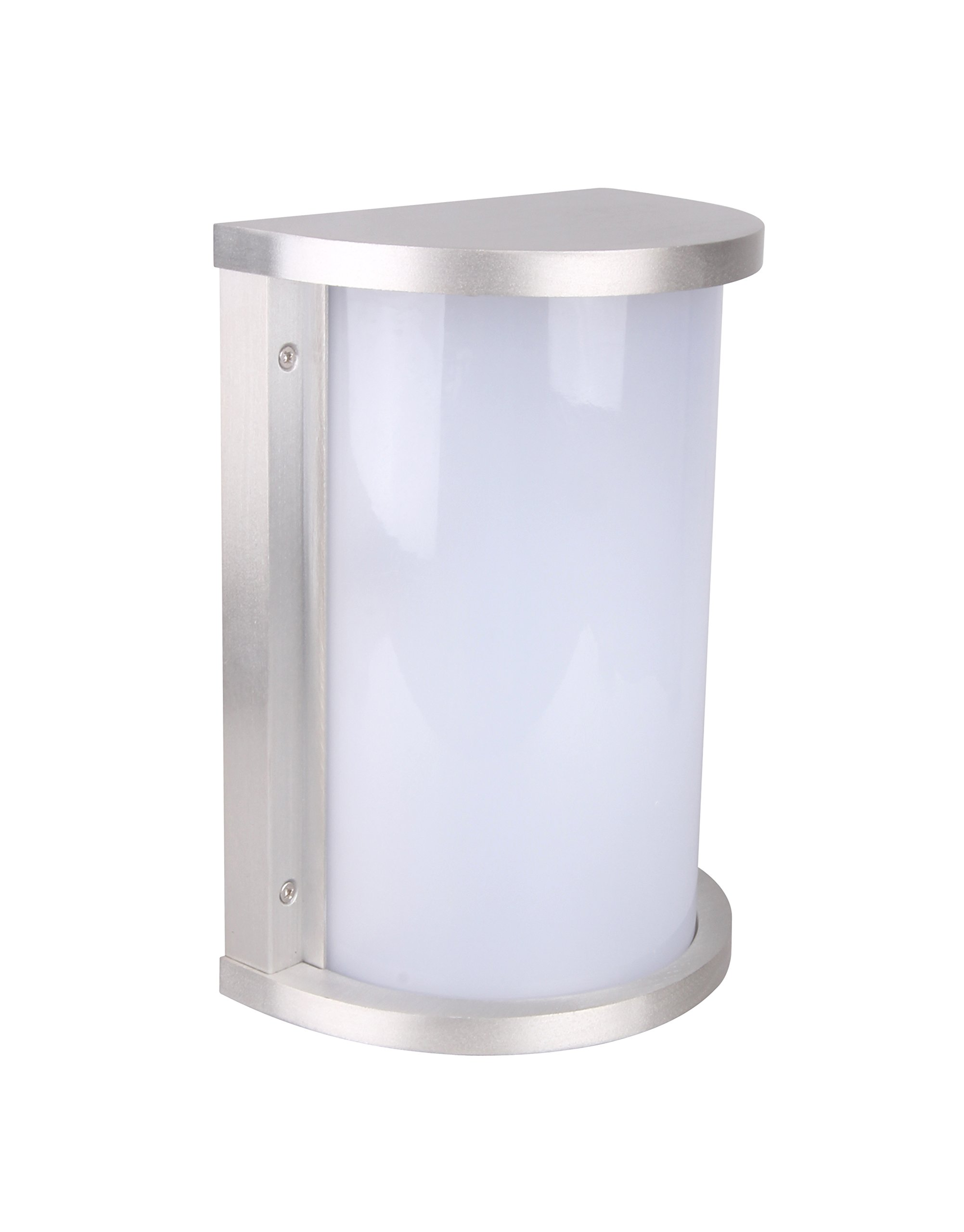 Lit-Path Outdoor/Indoor LED Wall Lantern, Wall Sconce as Porch Light Fixture, 12.5W (75W Equivalent), 950 Lumen, Aluminum Housing Plus PC, Water-Proof and Outdoor Rated, ETL and ES Qualified