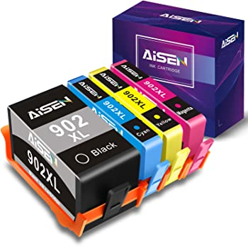 Aisen HP 902XL Remanufactured Replacement Cartridge Combo Pack