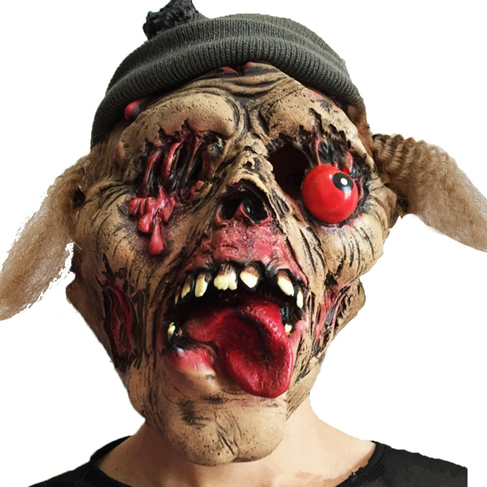 ventas en linea JTWJ Máscara de Ojo de Halloween Fiesta de látex látex látex Verde Cara Podrida caída  echa un vistazo a los más baratos