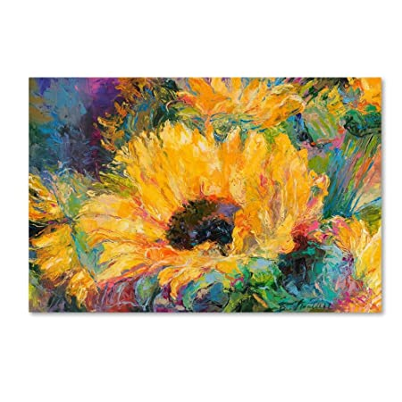 Blue Sunflowers by Richard Wallich, 22×32-Inch Canvas Wall Art