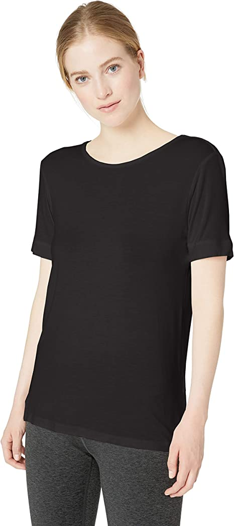 Marc New York Performance Womens Short V-Neck Active Tee with Mesh Bands on The Sleeve