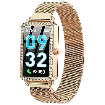 XMYL Mujer Elegante Smartwatch, Reloj Inteligente IP67 ...