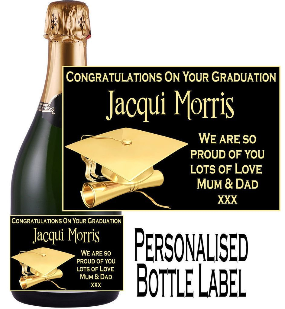 Eternal Design Personalised Graduation Champagne Bottle Label GDCL 1