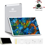 Tablet 10 Pulgadas 4G Full HD 4GB de RAM 64GB de ROM Android 9.0 Quad Core Tablet PC Batería de 8500mAh Dual SIM y TF 8MP Cámara Google Netflix WiFi Bluetooth GPS OTG(Plata)