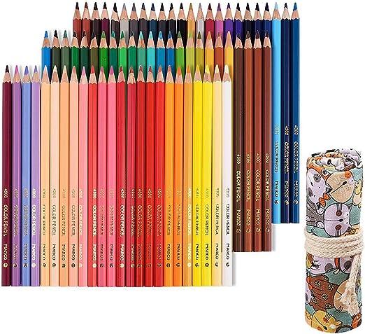 Tomkity 72 Lápices de Colores con Caja Regalo Ideal para Artistas ...