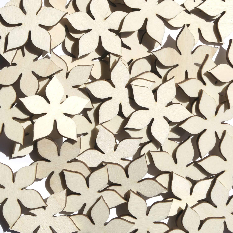 Holz Holz Holz Blaumen Enzian - 1-10cm Streudeko Basteln Deko Tischdeko, Pack mit 100 Stück, Größe Blaumen 7cm B07FWVWTTN | Deutschland Store  f399b1