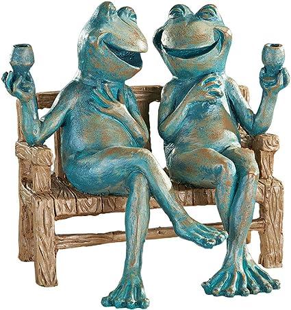 Amazon.com : Snoogg 454dgs Happy Hour Frogs Garden Statue, Red : Garden & Outdoor