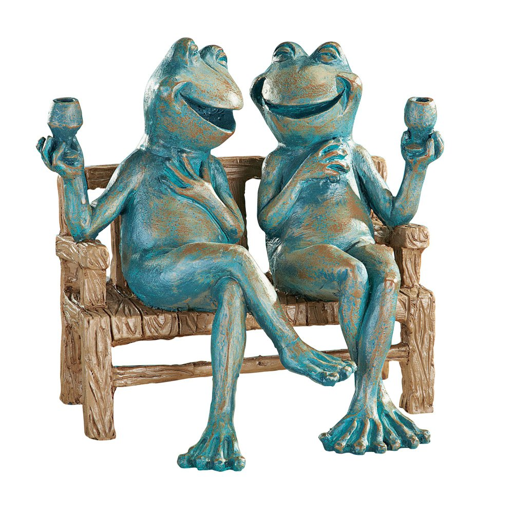 Collections Etc Happy Hour Frogs Garden Statue