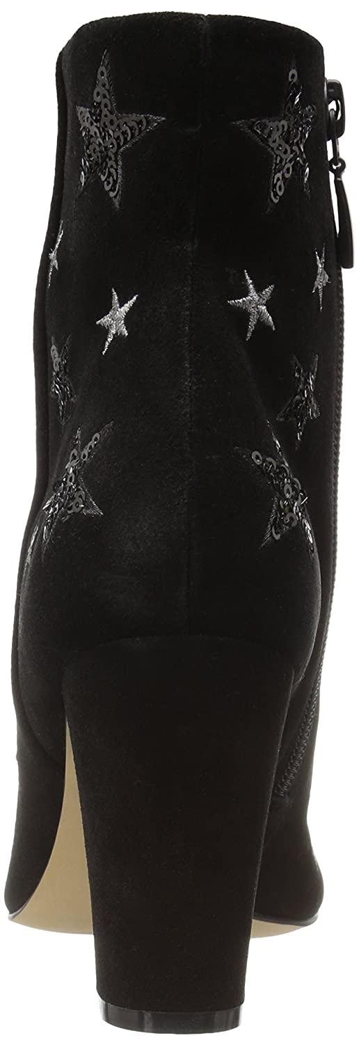 The Fix Oval Women's Nash Star Sequin Oval Fix Heel Ankle Bootie B01N5UR10K 10 B(M) US|Black 53b98c