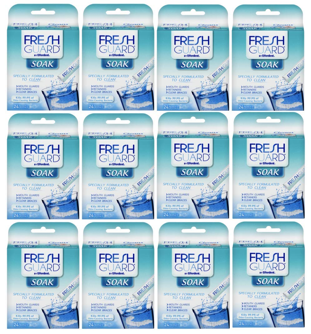 Fresh Guard by Efferdent Soak Crystals | 24 Count | 24 Pack by Fresh Guard