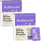 NuNaturals Nustevia White Stevia Powder, 100 Count (2-Pack)