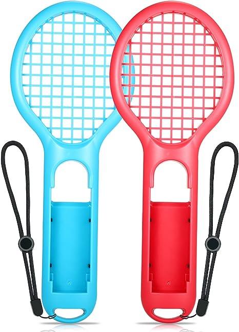 Raqueta de tenis para Nintendo Switch, Yocktec Tennis Racket Joy-Con Accessories (2 piezas) para Nintendo Switch Juego Mario Tennis Aces: Amazon.es: Videojuegos