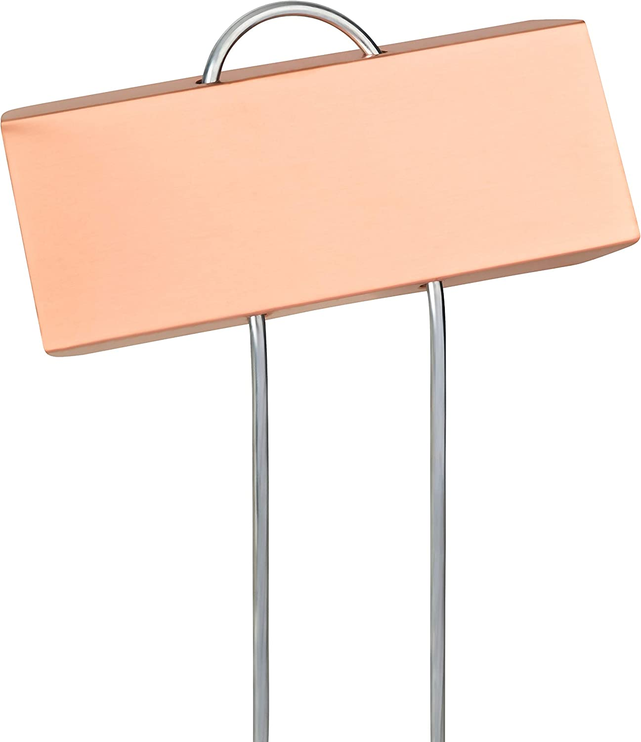 """GardenMate 100-Pack Weatherproof Large Copper Metal Plant Labels, Height 11.5"""", Label Area 3 1/2 x 1 1/4"""""""