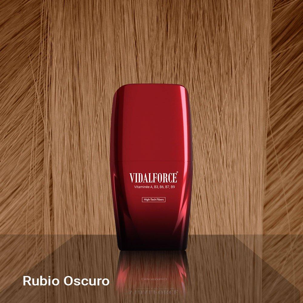 VidalForce Fibras Capilares Naturales Rubio Oscuro 25 gr Engrosador y voluminizador de cabello: Amazon.es: Belleza
