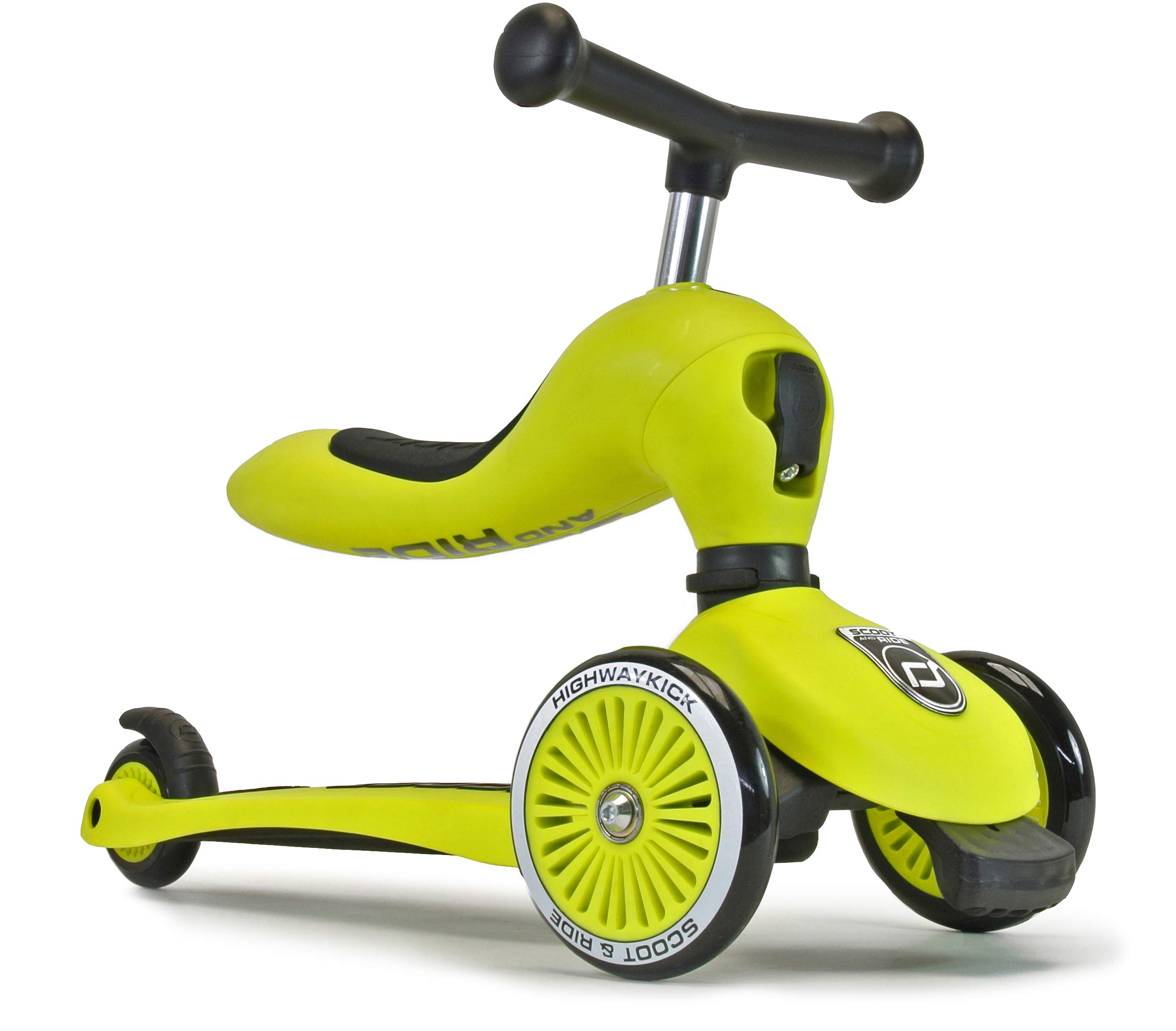 Scoot & Ride 2-in-1 Bike & Kick Scooter Combo for Children Ages 1-5 Years Old (Lime) by Scoot & Ride
